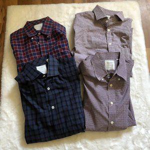 Billy Reid lot of 4 standard cut button up shirts
